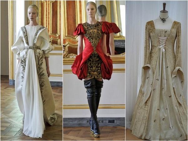Фото платьев в средние века