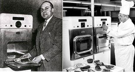 Кто и когда изобрел микроволновую печь?