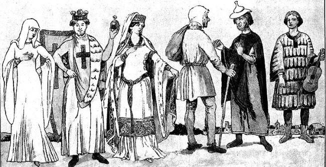 Что носили женщины в Средние века?