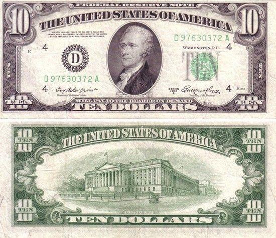 Кто изображен на долларах США?