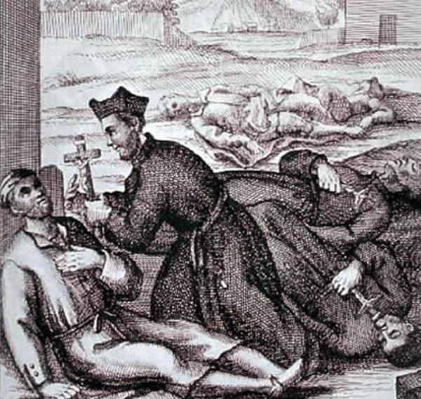 Человек заболевший чумой